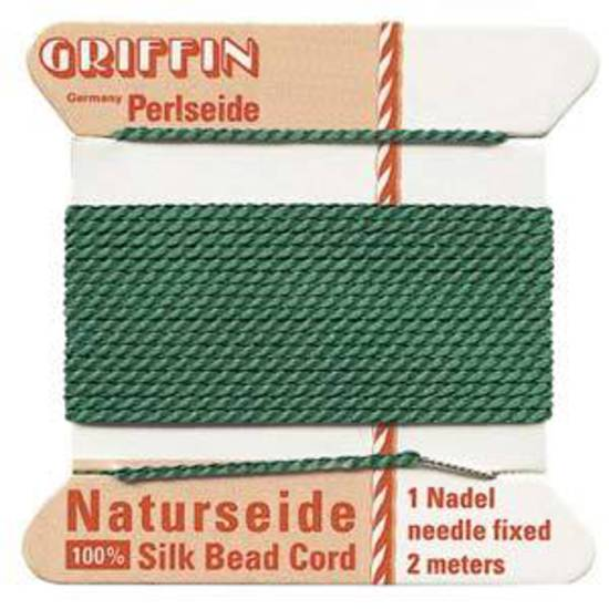Griffin Silk Cord - Green - Size 2 (0.45mm)