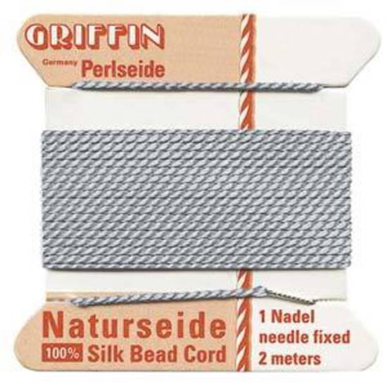 Griffin Silk Cord - Grey - Size 4 (0.6mm)