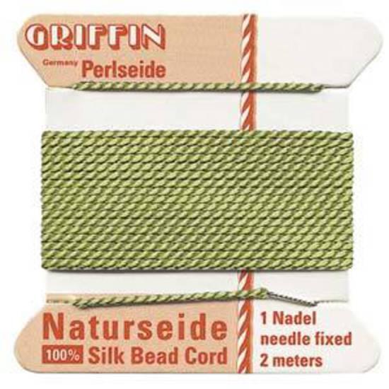 Griffin Silk Cord - Jade - Size 6 (0.7mm)
