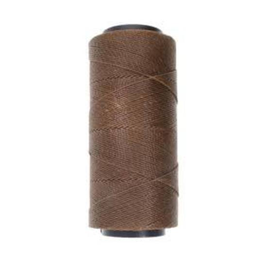 Knot-It Brazilian Waxed Polyester Cord: Brown - 144m roll