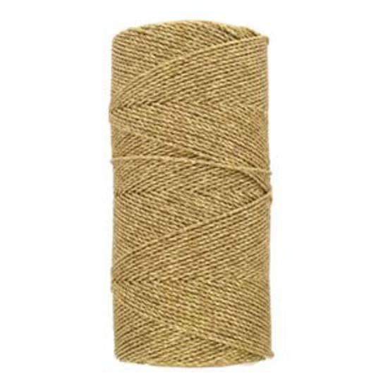 NEW! Knot-It Brazilian Waxed Polyester Cord: Metallic Gold