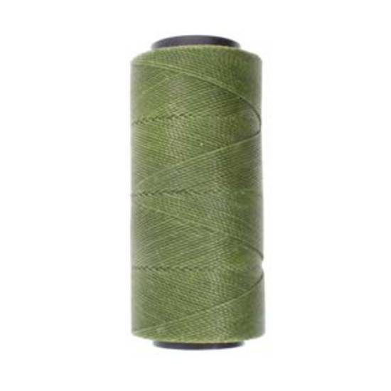 NEW! 0.8mm Knot-It Brazilian Waxed Polyester Cord: Olive