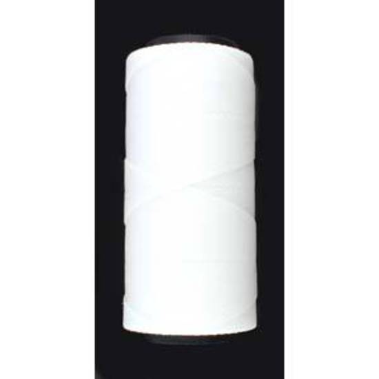 Knot-It Brazilian Waxed Polyester Cord: White - 144m roll