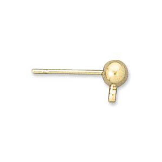 Stud Drop, 4mm ball - gold