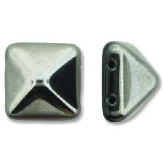 Pyramid Stud: 12mm - Jet Full Chrome