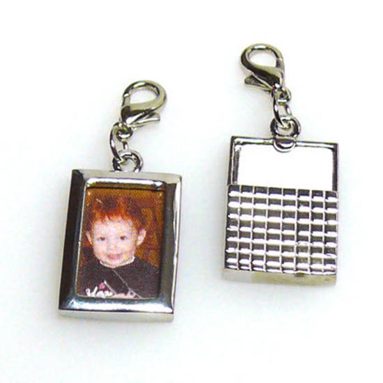 Photo Frame with attached parrot clasp, rectangle