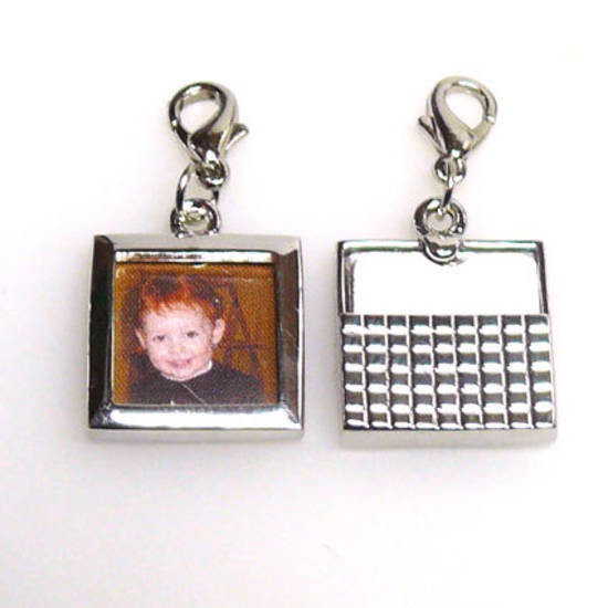 Photo Frame with attached parrot clasp, square