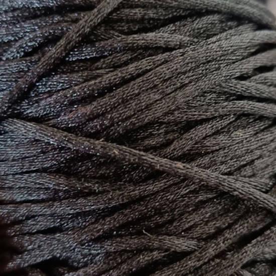 *CLEARANCE* Satin Rats Tail Cord (2mm) - Black (a bit fluffy)