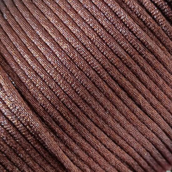 Satin Rats Tail Cord (2mm) - Brown