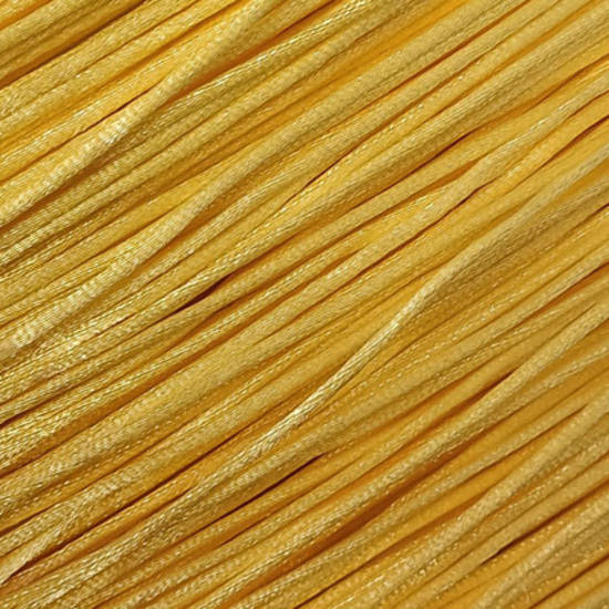 Satin Rats Tail Cord (2mm) - Yellow