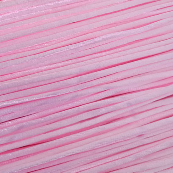 CLEARANCE - Satin Rats Tail Cord (2mm) - Light Pink (a little colour variance)