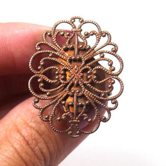 Filigree Ring Base - Copper