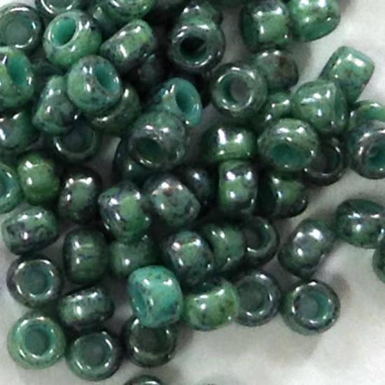 Toho size 11 round: 1207 - Stonewashed, Teal Green/Grey