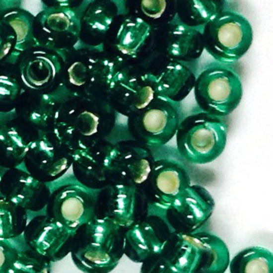 Miyuki size 11 round: 17 - Emerald, light