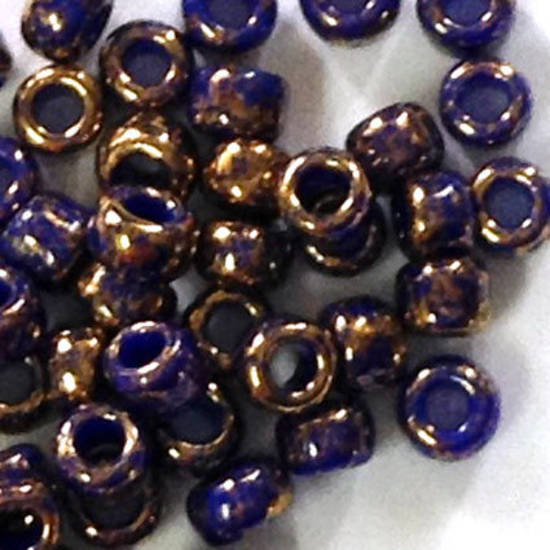 Toho size 11 round: 1701 - Rich Purple, bronze colourwash