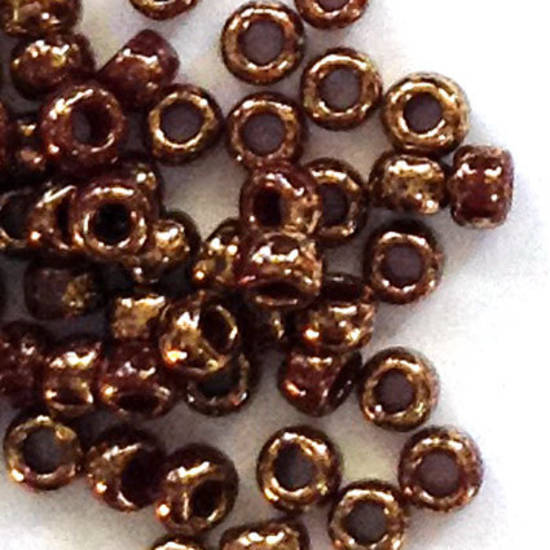 Toho size 11 round: 1705 - Brown, bronze colourwash