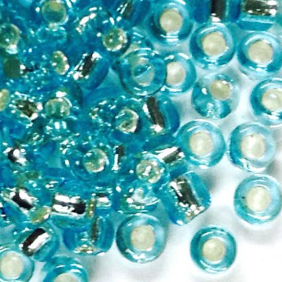 Matsuno size 11 round: 18A - Aqua, pale silver lined