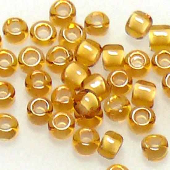 Matsuno size 11 round: 327E - Amber/White, colour lined
