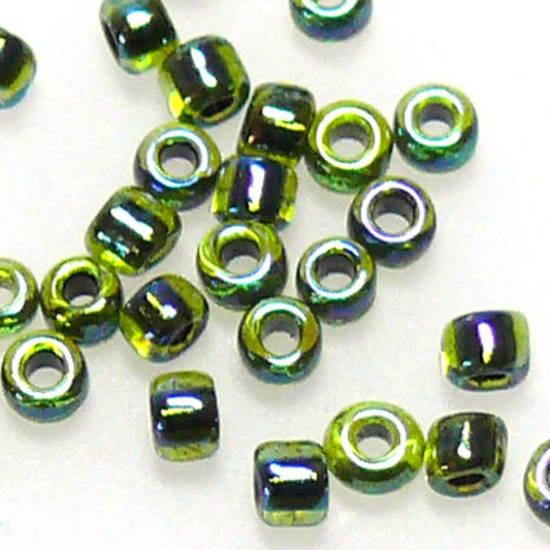 Matsuno size 11 round: 338D - Green, transluscent