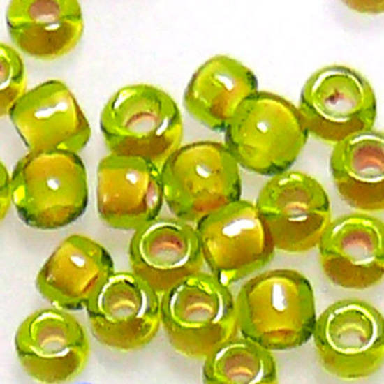 Matsuno size 11 round: 398G - Lime/Clear, colour lined