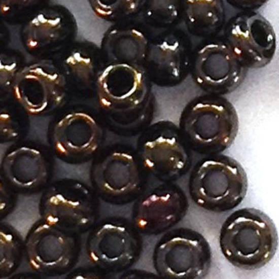 Toho size 11 round: 458 - Dark Brown Shimmer