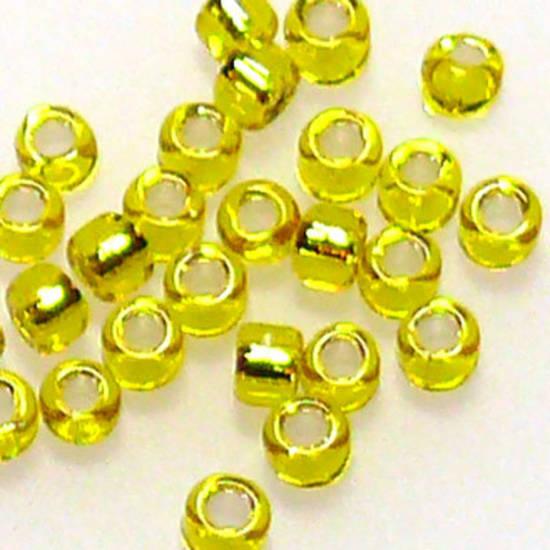 Matsuno size 11 round: 6 - Yellow, silver lined
