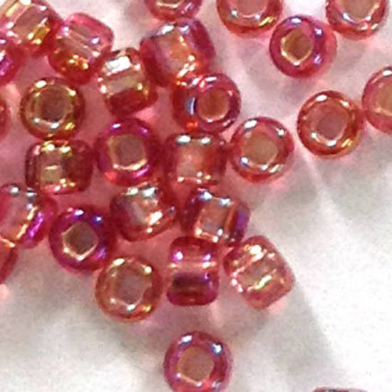 Matsuno size 11 round: 640C - Pink Shimmer, silver lined