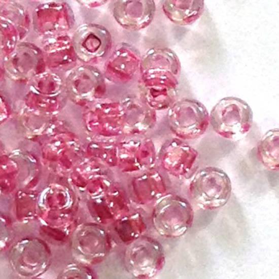 Miyuki size 11 round: 704 - Vintage Pink, colour lined