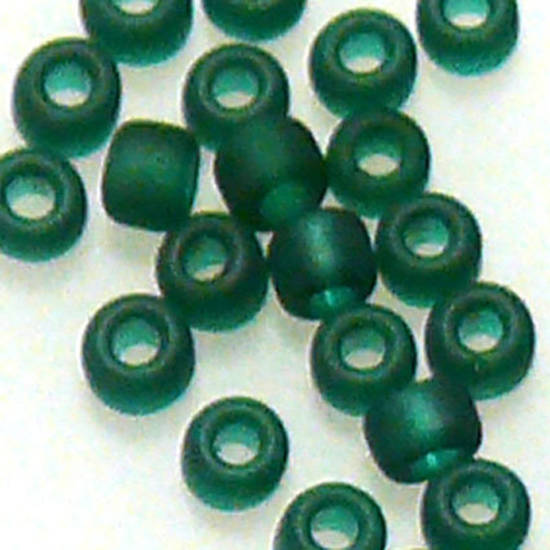 Matsuno size 11 round: F147A - Frosted Forest Green, transparent