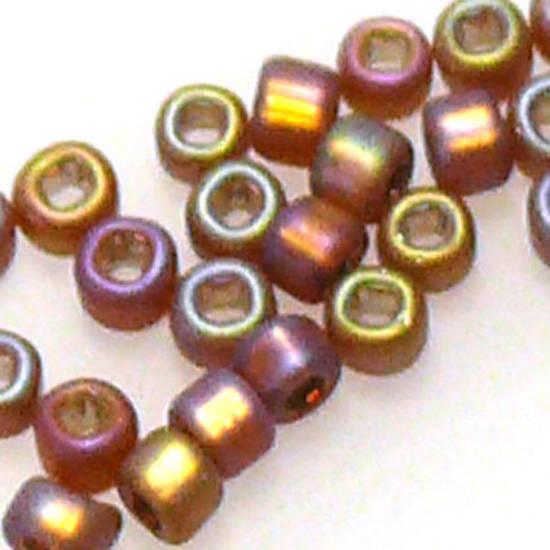 Matsuno size 11 round: F648 - Frosted Brown Iris