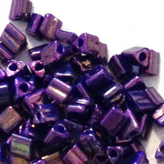 Toho size 11 triangle: 460D -  Purple Shimmer