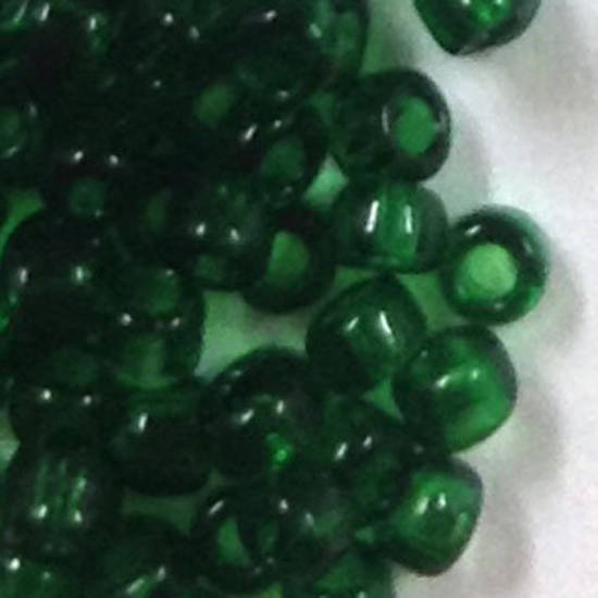 Miyuki size 15 round: 147A  - Deep Green, transparent