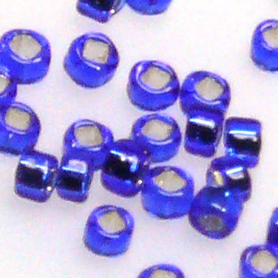 Miyuki size 15 round: 20 - Sapphire, silver lined
