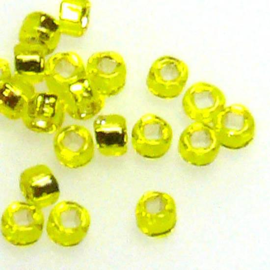 Miyuki size 15 round: 6 - Yellow, silver lined