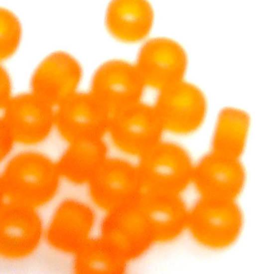 Miyuki size 15 round: F138 - Frosted Orange