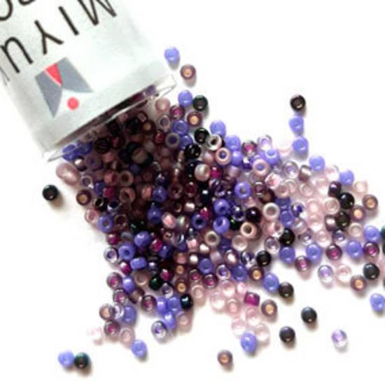 NEW! Miyuki size 15 round: MIX 01 - Purples