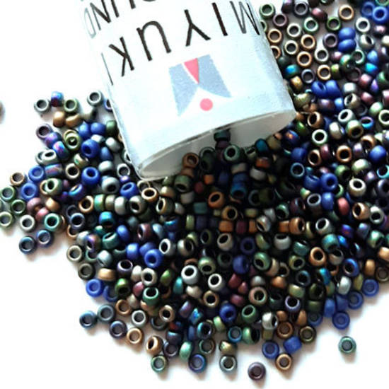 NEW! Miyuki size 15 round: MIX 25 - Matte Metallics