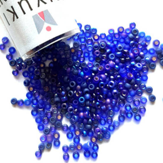 NEW! Miyuki size 15 round: MIX 56 - Cobalts