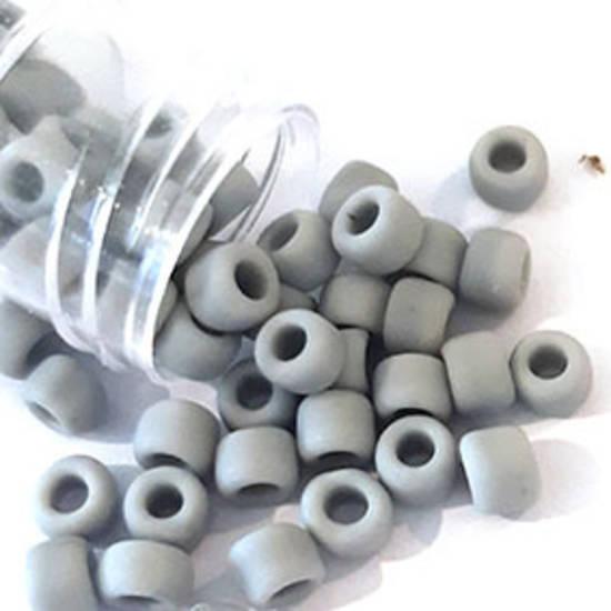 Miyuki size 6 round: F416 - Light Grey Opaque