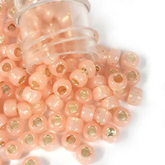 Toho size 6 round: 580A - Pale Pink, satin shimmer