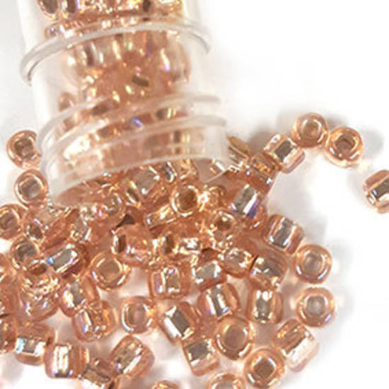 Matsuno size 6 round: 640A - Light Peach AB, silver lined