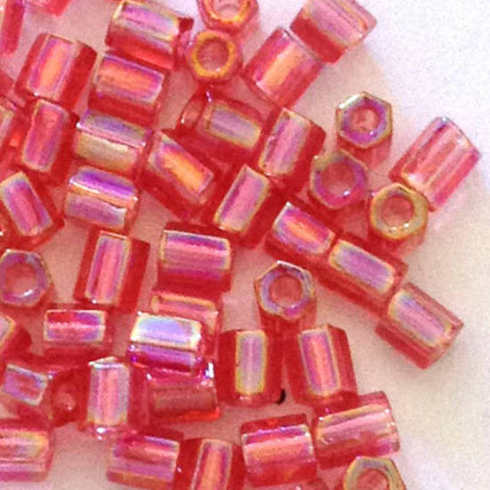 Matsuno size 8 hex: 256E - Pink Shimmer, transparent