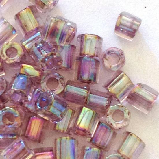 Miyuki size 8 hex: 274 - Light Amethyst Shimmer, transparent
