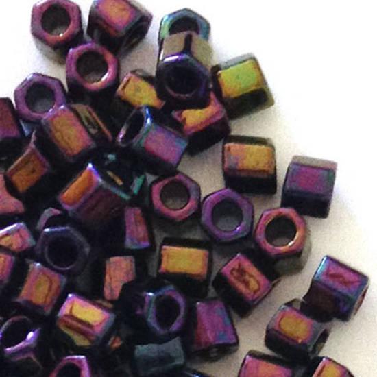 Miyuki size 8 hex: 454P - Deep Purple Iris