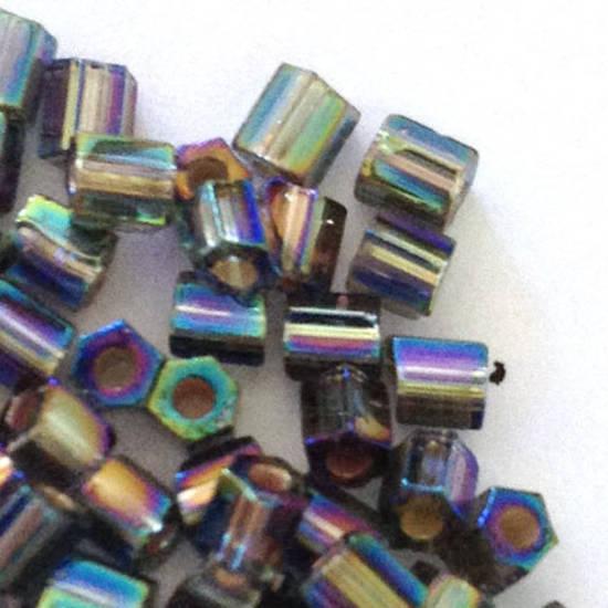 Miyuki size 8 hex: 649 - Grey/purple Iris