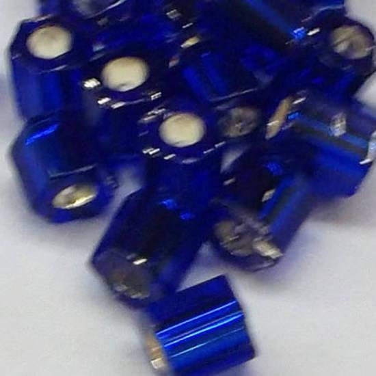 Matsuno size 8 hex: H20 - Dark Sapphire, silver lined