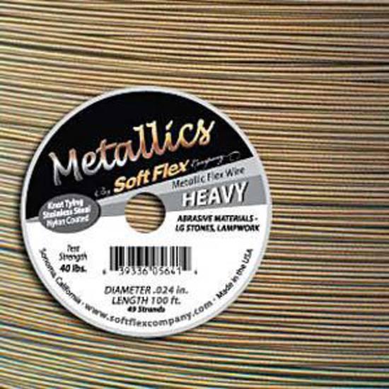 NEW! Heavy Softflex: Antique Brass - 1 metre