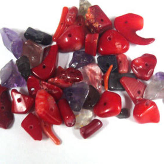 Semi-Precious Chip Mix - Corals (small tube)