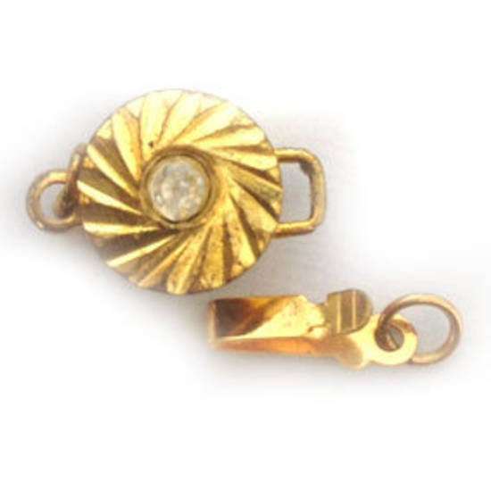 Sparkly Clasp,  Round, gold