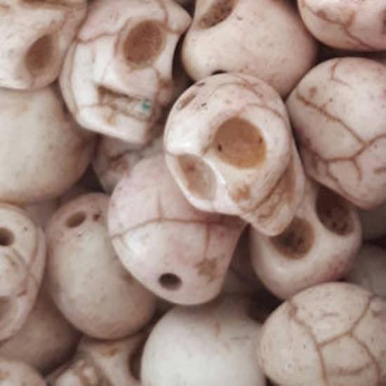 Howlite Skull: Small - Bone
